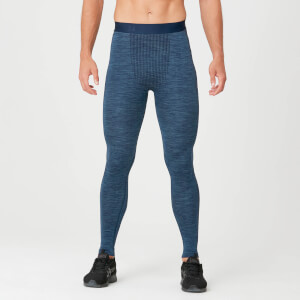 Seamless Tights - Petrol Blue