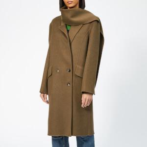 JW Anderson Women's Double Face Wool Scarf Coat - Brown