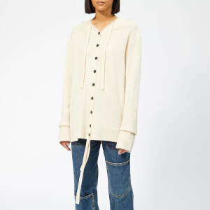 JW Anderson Women's Wool Cashmere Hooded Cardigan - Parchment