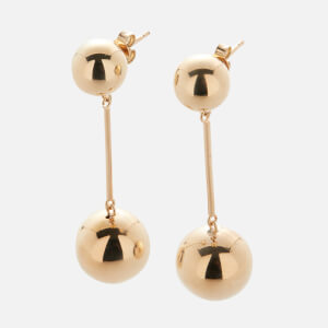 JW Anderson Women's Sphere Drop Earrings - Small - Gold