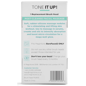 Magnitone London Barefaced 2 Tone It Up! Massaging Brush Head - 1 Pack: Image 4