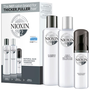 NIOXIN 3-Part System Trial Kit 2 for Natural Hair with Progressed Thinning -hiustenhoitosetti