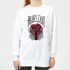 Sweat Femme Rebellion Star Wars Rebels - Blanc