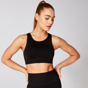 Myprotein Shape Seamless V2 Ultra Sports Bra - Black