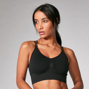 Shape Seamless Sports Bra - Black