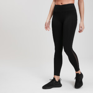 MP Damen Power Mesh Leggings - Schwarz