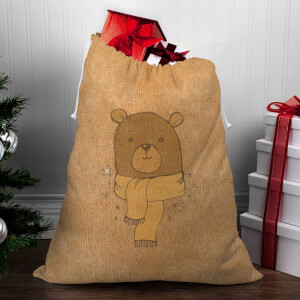 Winter Bear Christmas Sack