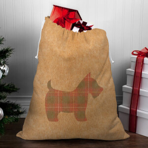 Tartan Scotty Dog Christmas Sack