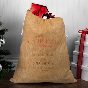 Christmas Express for A Special Cat Christmas Sack