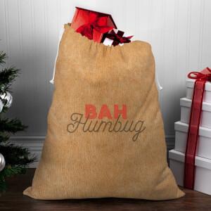 Bah Humbug Christmas Sack