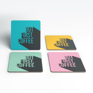 But First, Coffee Coasters (Pack of 4)