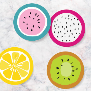 Fruit Coasters (Pack of 4)