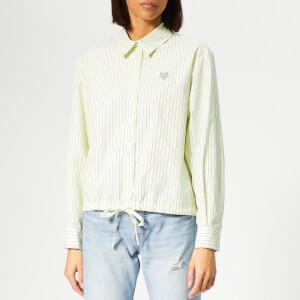 KENZO Women's Boxy Drawstring Shirt - Lemon