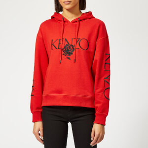 KENZO Women's Bold Hoodie - Medium Red