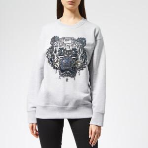 KENZO Women's Beaded Tiger Sweatshirt - Pale Grey