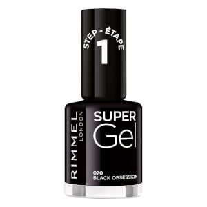 Rimmel Super Gel Nail Polish - Black Obsession