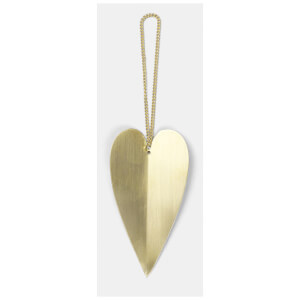 Ferm Living Heart Brass Ornaments (Set of 4)