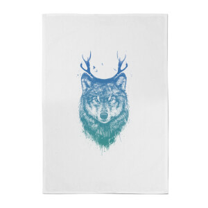 Balazs Solti Wolf Cotton Tea Towel