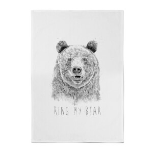 Balazs Solti Ring My Bear Cotton Tea Towel