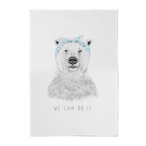 Balazs Solti We Can Do It Cotton Tea Towel
