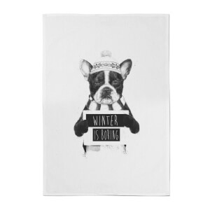 Balazs Solti Winter Is Boring Cotton Tea Towel
