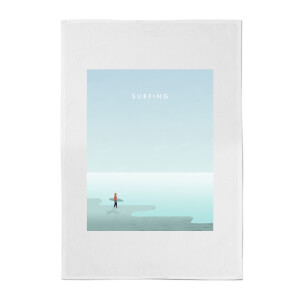 PlanetA444 Surfing Cotton Tea Towel