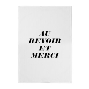 Au Revoir Et Merci Cotton Tea Towel