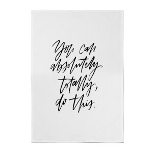 PlanetA444 You Can Absolutely, Totally, Do This Cotton Tea Towel