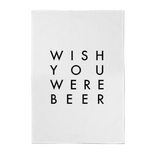 PlanetA444 Wish You Were Beer Cotton Tea Towel
