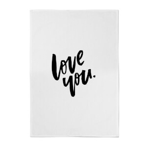 PlanetA444 Love You Cotton Tea Towel