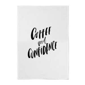 PlanetA444 Coffee and Confidence Cotton Tea Towel