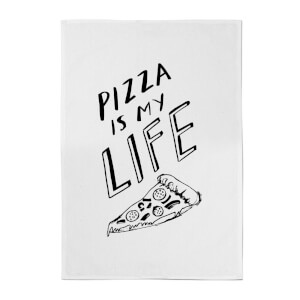 Pizza Is My Life Cotton Tea Towel