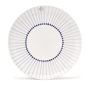 Nkuku Iba Ceramic Plate - Indigo - Dinner Plate