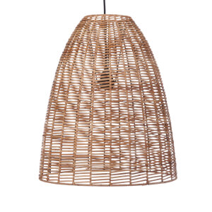 Nkuku Noko Wicker Conical Pendant - Natural