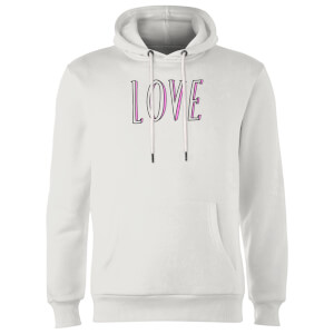 Rock On Ruby Love Hoodie - White
