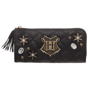 Harry Potter Back To Hogwart Quilted Wallet - Black