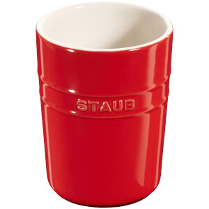 Staub Ceramic Round Utensil Holder - Cherry