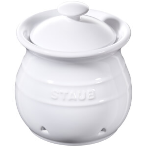 Staub Ceramic Round Garlic Keeper - White