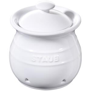 Staub Ceramic Round Garlic Keeper - White