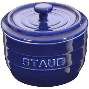 Staub Ceramic Round Salt Crock - Dark Blue