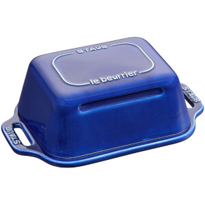 Staub Ceramic Rectangular Butter Dish - Dark Blue