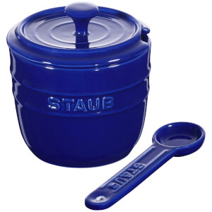Staub Ceramic Round Sugar Bowl - Dark Blue