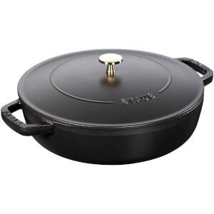 Staub Round Chistera Saute Pan - Black - 28cm