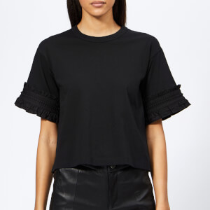 See By Chloé Women's Sleeve Detail T-Shirt - Black
