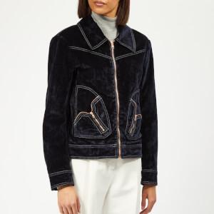 See By Chloé Women's Velvet Denim Jacket - Midnight