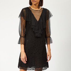 See By Chloé Women's Lace and Mesh Dress - Black