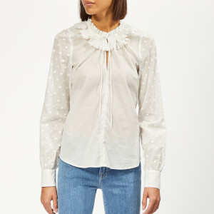 See By Chloé Women's Voile Dotted Blouse - White
