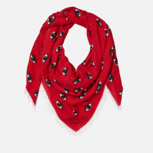 KENZO Women's Multi Eyes Square Scarf - Midnight Red