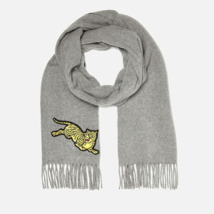 KENZO Women's Jumping Tiger Stole Scarf - Pale Grey