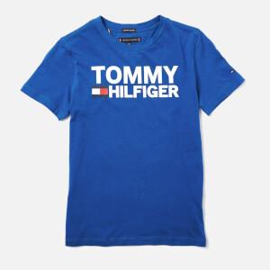 Tommy Hilfiger Boys' Essential Graphic Logo T-Shirt - Olympian Blue